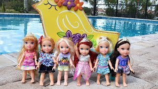 Bubble Machine ! Elsa & Anna Toddlers - Ariels Birthday Party - Pool - Playdate - LOL Toys