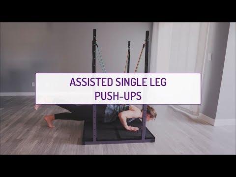 Assisted Single Leg Push-Ups