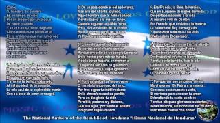 Honduras National Anthem with music, vocal and lyrics Spanish w/English Translation