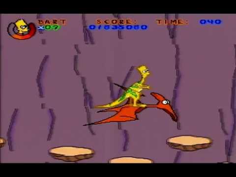 (Part 5) Virtual Bart (SNES)   Dino Bart in 65 Million B.C. Springfield   PEMNAS Playthrough