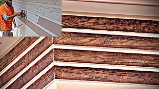 Wood Texture Design On Exterior Walls  asian Paints  metalics