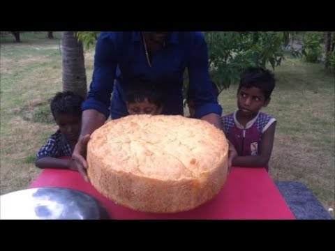 Biggest Vegetable Burger - Watch How We Cook a Big Vegetable Burger with a Big Idli Cooker