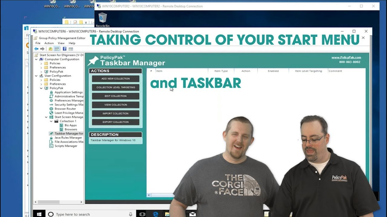 Taskbar and Start Menu with PolicyPak and PDQ Deploy