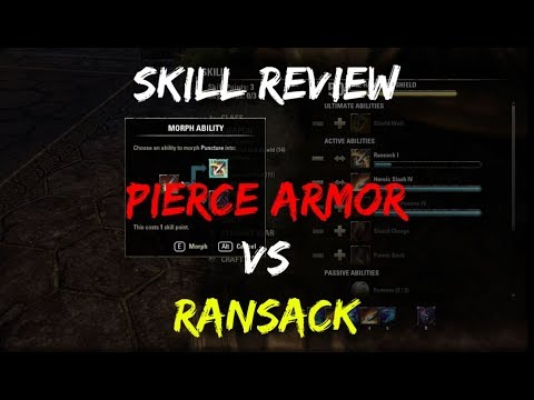 Pierce Armor vs Ransack: Which Is Better? (PvE) — Elder Scrolls Online
