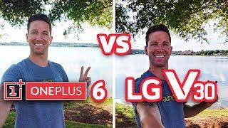 OnePlus 6 vs LG V30 Camera Test Comparison! (4K)