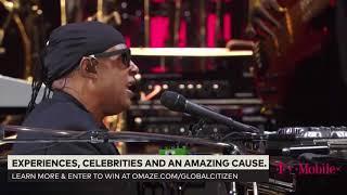Stevie Wonder ~ Signed Sealed Delivered (I'm Yours) Live | Global Citizens Concert 2017 | Part 3
