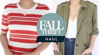 FALL THRIFT HAUL Styling thrifted pieces with my own wardrobe!   Try-On thrift haul   Miss Louie