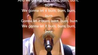 Haris Alagic - Burn (Cover) Official Lyrics Video (Winner Xfactor The Netherlands 2013)