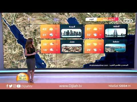 شاهد بالفيديو.. الانواء الجوية وتغيرات الطقس مع دينا هلسه 22-7-2019