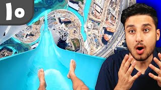 ۱۰ ترسناک ترین سرسره های آبی 😱 DANGEROUS WATERSLIDES