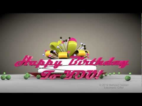 Happy Birthday To You HD 3d Animated Video Greeting E-card-Cinema 4d Animation Mp3