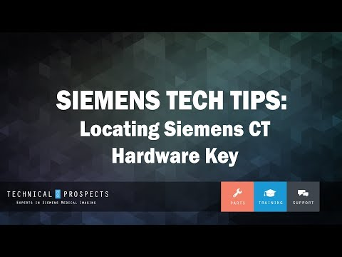 Locating Siemens CT Hardware Key