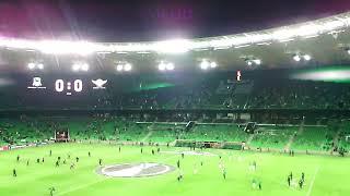 20 минут до начала матча ЛЕ, а стадион пустой