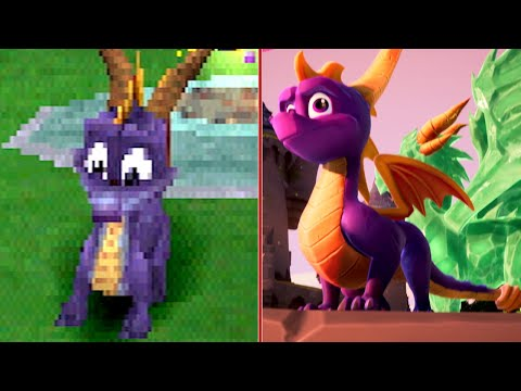 Trailer comparatif d'IGN de Spyro Reignited Trilogy