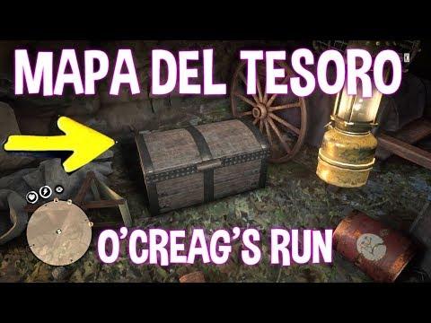 O, creaghs run TREASURE MAP - MAPA DEL TESORO O'CREAG'S RUN UBICACION RED DEAD ONLINE
