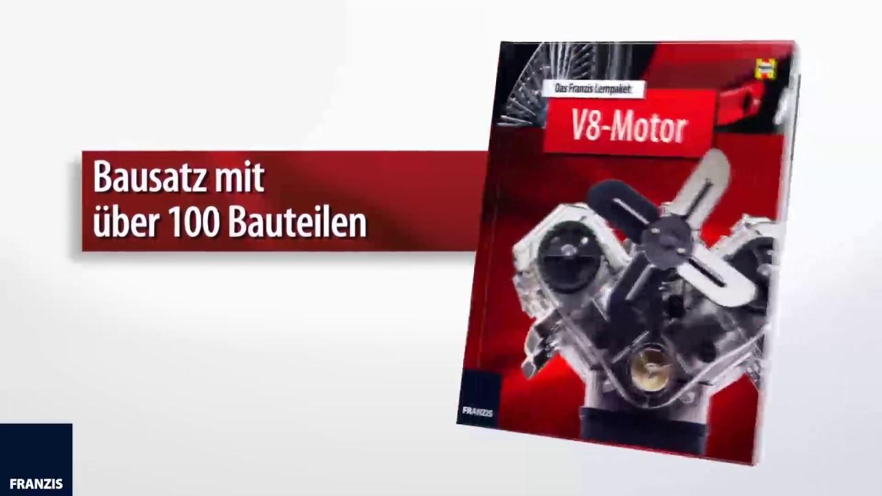V8-Motor Bausatz - 250 Teile