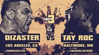 TAY ROC VS DIZASTER SMACK/ URL RAP BATTLE | URLTV