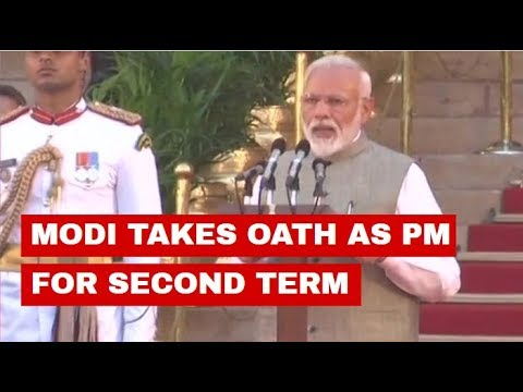 Watch: PM Modi takes oath as the Prime Minister of India for second consecutive term