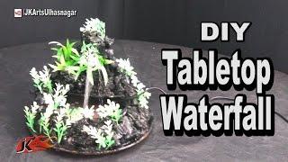 DIY How to make waterfall | TableTop  Cement Mountain Waterfall / Fountain | JK Arts 1060