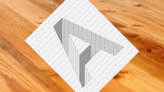 Drawing A Hole in Line Paper - Corel Draw 3D Trick Art