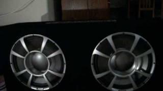 Gucci Bandana on two 12'' Blaupunkt Subwoofers 300 watts rms