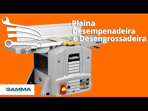 Plaina Desengrossadeira e Desempenadeira 770 x 212 mm 1500W  - Video