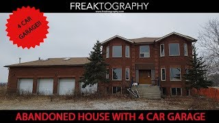 Exploring a Huge Abandoned House with a 4 Car Garage | Urban Exploring with Freaktography