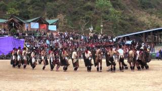Spear dance performed by a Naga tribe