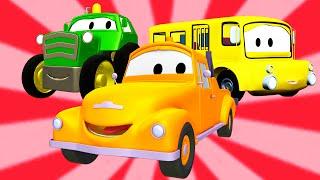 Эвакуатор Том и Автобус, Кран, Трактор, Авто Патруль | Мультфильм о машинках для детей