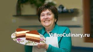 Смотреть онлайн Рецепт воздушного торта Шоколадный дуэт