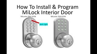 How To Operate and Install The DKK and TKK MiLocks Interior Keyless Entry Good For Bedrooms And More