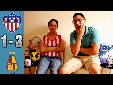 Reacción Junior de Barranquilla vs Deportes Tolima 1-3 (10/11/19) Cuadrangulares Liga Águila 2019