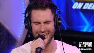 """Maroon 5 Cover """"Let's Stay Together"""" on the Howard Stern Show"""