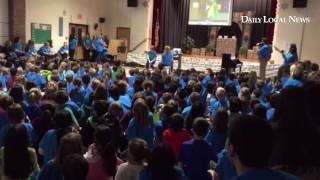 A very special assembly at Mary C. Howse Elementary about positive behavior and the newest member of