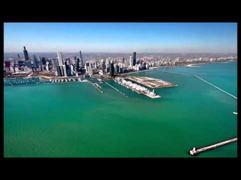 A visit to Lake Point Tower, by air and by land