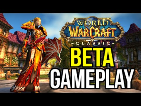 WORLDS FIRST CLASSIC WOW BETA FOOTAGE! RELEASE DATE CONFIRMED! PVP, DUNGEONS, LEVELING