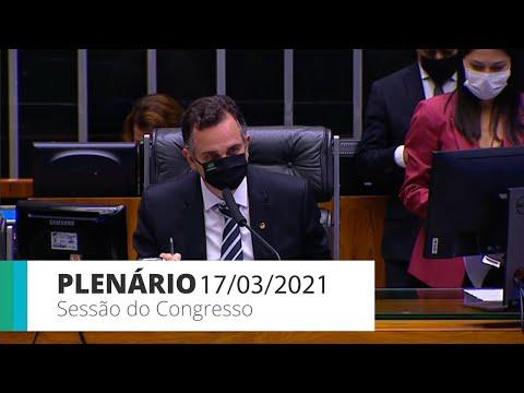 Sessão do CN - Congresso assegura indenização a profissionais de saúde  - 17/03/2021