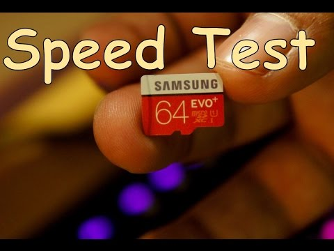 Samsung 64GB Evo plus Class 10 sdsxc speed test review (On USB 3.0 reader)