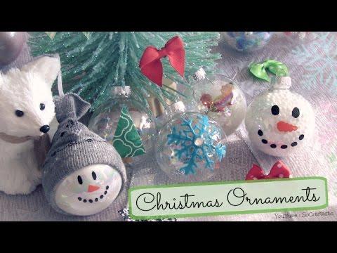 SFERE NATALIZIE ♥ 8 velocissimi metodi per le vostre palline di Natale ♥ VIDEOTUTORIAL