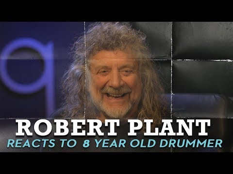 Robert Plant reacts to 8-year-old girl playing Led Zeppelin on drums