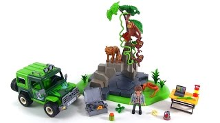 Playmobil Wild Life Jungle Animals w/ Researcher & Off-Road Vehicle review! set 5416