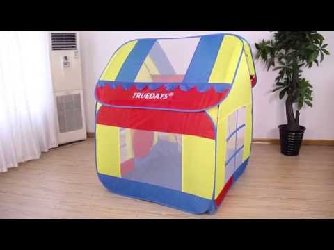 How to take down and fold Truedays Kids Play tent hut Playhouse