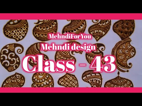 mehndi design types paisley shapes and filler elements tutorial by mehndi for you