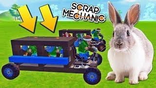 ГОНКИ НА КРОЛИЧЕЙ ТЯГЕ БЕЗ ДВИЖКОВ в Scrap Mechanic !!!