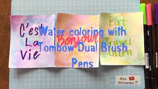 Water coloring With Tombow Dual Brush Pens
