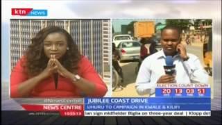 President Uhuru continues with his vote hunt in Kwale and Kilifi, Mombasa; Jubilee coast drive
