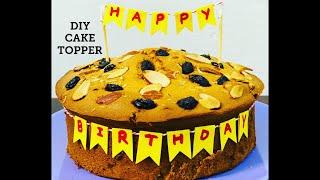 girl first birthday cake topper