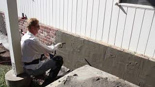 Stucco cement plastering over brick walls, before and after with video to show how stucco is done