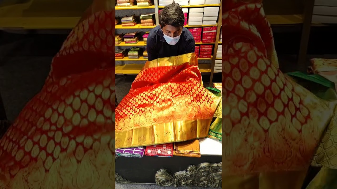 """<p style=""""color: red"""">Video : </p>KANCHI PATTU &amp; BROCADE SAREES FROM MUGDHA FOR ORDERS 9949047889 2021-10-13"""