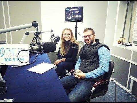 Эльвира Болгова и Сергей Желудков на радио Вера